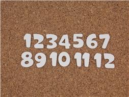 Набор цифр от 1 до 12 (7)