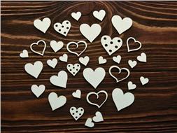 Набор чипбордов Сердечки