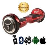 Гироскутер Hoverbot A6 Premium красный (приложение + Bluetooth-музыка + 3 режима работы + пульт + сумка)