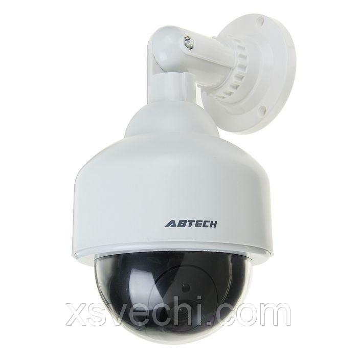 Муляж уличной видеокамеры VM-6, со светодиодным индикатором, 2АА (не в компл.), белый