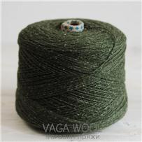 Пряжа City 022 Дремучий лес 144м/50гр., шерсть ягнёнка, шёлк, Vaga Wool