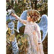 """Картина для рисования по номерам """"Ангел и птичка"""" арт. GX 8961 m"""