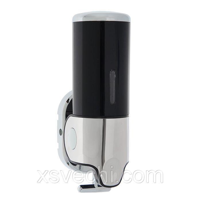 Диспенсер жидкого мыла механический 400 мл, металл черный