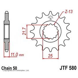 Звезда передняя (ведущая) стальная JTF580 530