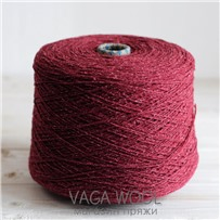 Пряжа City 016 Бургундия 191м/50гр., шерсть ягнёнка, шёлк, Vaga Wool