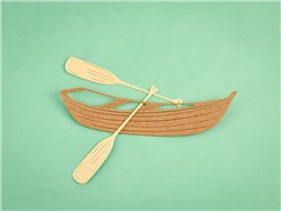 Лодка с веслами