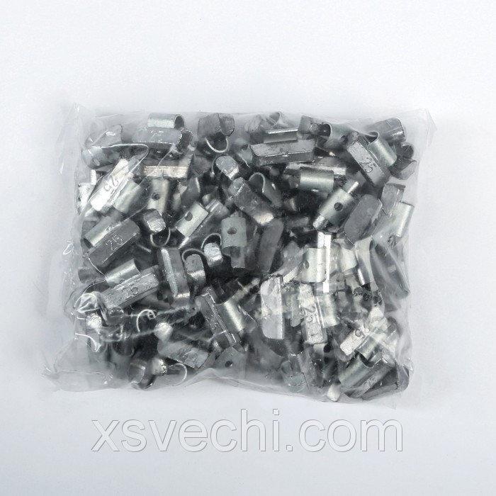 Грузики набивные свинцовые, для литых дисков, 25 г, набор 100 шт.