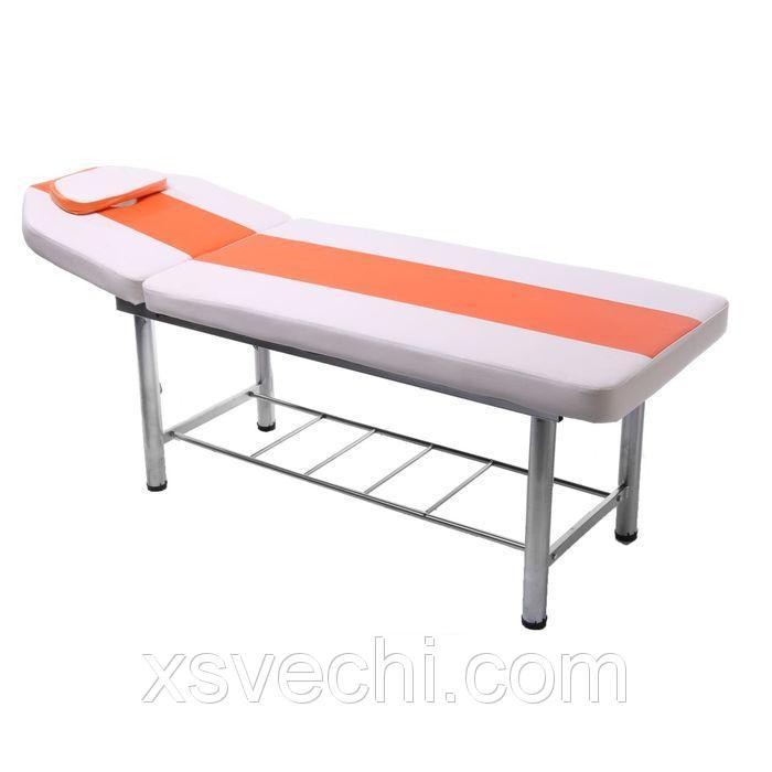 Кушетка массажная 180*60*55, цвет белый, нагрузка до 200 кг