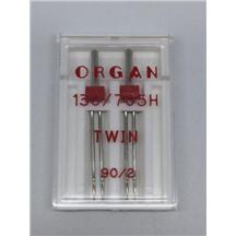 Иглы ORGAN двойные 130/705H №2-90 (в упак 2шт) пластиковая упак