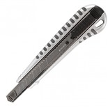 Нож канцелярский 9 мм Brauberg Metallic 236971