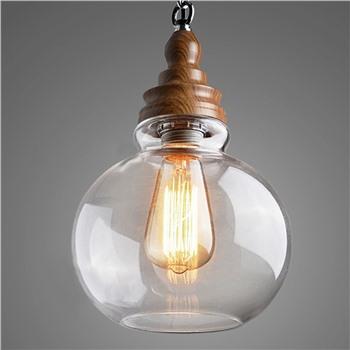 Подвесной деревянный светильник