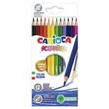Карандаши цветные акварельные Carioca Acquarell 12 цветов 42857