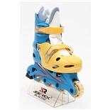Роликовые коньки JOEREX RO0306 (синий/желтый) (р.39-42)