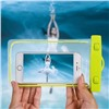 Чехол водонепроницаемый светящийся для мобильных телефонов зеленый