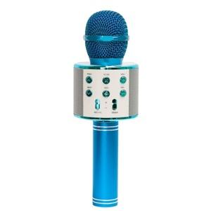 Беспроводной караоке микрофон WS-858 Голубой