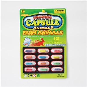 """Растущие животные в капсуле """"Ферма"""", набор 12 шт."""