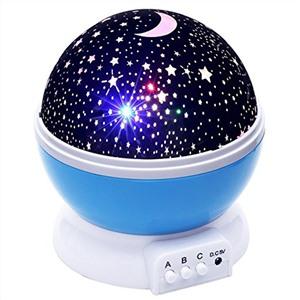 Вращающийся ночник-проектор Звездное небо STAR MASTER DREAM голубой