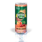 Perrier 0,25 Персик и Вишня (Peach & Cherry) фруктовый напиток - 24 шт.