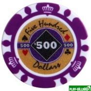 Набор для покера Crown на 500 фишек, интернет-магазин товаров для бильярда Play-billiard.ru. Фото 7