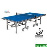 """Weekend Складной стол для настольного тенниса """"Start line Champion"""" (274 Х 152, 5 Х 76 см), без сетки, обрезинен. ролики, регулируемые опоры (ITTF), интернет-магазин товаров для бильярда Play-billiard.ru"""