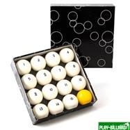 "Classic Комплект шаров 60,3 мм ""Classic Standard"" (желтый биток), интернет-магазин товаров для бильярда Play-billiard.ru"