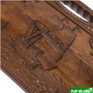 """Нарды резные """"Корабль-2"""" с ручкой 60, Haleyan, интернет-магазин товаров для бильярда Play-billiard.ru. Фото 8"""