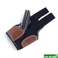 Weekend Перчатка бильярдная «K-1» (черная, серебро, вставка кожа), интернет-магазин товаров для бильярда Play-billiard.ru. Фото 2