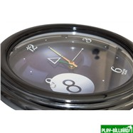 Часы настенные (черные), интернет-магазин товаров для бильярда Play-billiard.ru. Фото 2