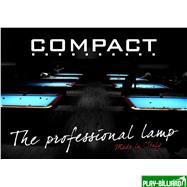 Norditalia Ricambi Лампа плоская люминесцентная «Longoni Compact» (черная, бирюзовый отражатель, 287х31х6см), интернет-магазин товаров для бильярда Play-billiard.ru. Фото 2
