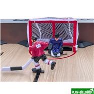 Weekend Хоккей «Легенда 17» (141.5 x 72.4 x 81 см, коричневый), интернет-магазин товаров для бильярда Play-billiard.ru. Фото 8