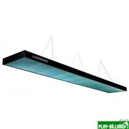 Norditalia Ricambi Лампа плоская люминесцентная «Longoni Compact» (черная, бирюзовый отражатель, 320х31х6см), интернет-магазин товаров для бильярда Play-billiard.ru