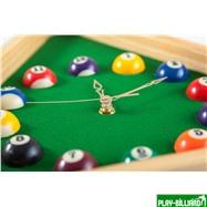 """Часы настенные """"Треугольник"""" (дуб) 40 см х 35 см, деревянные, интернет-магазин товаров для бильярда Play-billiard.ru. Фото 4"""