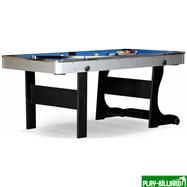 Weekend Складной бильярдный стол для пула «Team I» 6 ф (черный) ЛДСП, интернет-магазин товаров для бильярда Play-billiard.ru. Фото 1