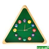 Weekend Часы настенные «Треугольник» (дуб) 40 см х 35 см, деревянные, интернет-магазин товаров для бильярда Play-billiard.ru