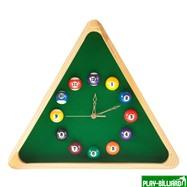 Weekend Часы настенные «Треугольник» (дуб) 40 см х 35 см, деревянные, интернет-магазин товаров для бильярда Play-billiard.ru. Фото 1
