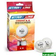 Weekend Мячи Start line Standart 2* New (6 шт, бел.), интернет-магазин товаров для бильярда Play-billiard.ru