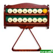 Полка для шаров и треугольника (дуб, коричневая), интернет-магазин товаров для бильярда Play-billiard.ru. Фото 2