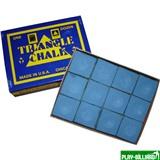 Tweeten Мел «Triangle» (12 шт) синий, интернет-магазин товаров для бильярда Play-billiard.ru