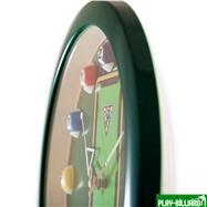 Weekend Часы настенные «12 шаров» D30 см (зеленые), пластик, интернет-магазин товаров для бильярда Play-billiard.ru. Фото 8
