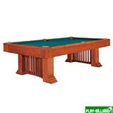Weekend Бильярдный стол для пула «Romance» 8 ф (коричневый) со столешницей + сукно, интернет-магазин товаров для бильярда Play-billiard.ru