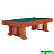 Weekend Бильярдный стол для пула «Romance» 8 ф (коричневый) со столешницей + сукно, интернет-магазин товаров для бильярда Play-billiard.ru. Фото 1