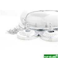 Weekend Лампа на шесть плафонов «Crown» (серебристая штанга, серебристый плафон D38см), интернет-магазин товаров для бильярда Play-billiard.ru. Фото 3
