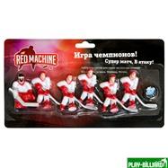 Red Machine Комплект игроков с шайбой «Юниор» (красный), интернет-магазин товаров для бильярда Play-billiard.ru
