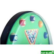Weekend Часы настенные «12 шаров» D32 см (зеленые), пластик, интернет-магазин товаров для бильярда Play-billiard.ru. Фото 9