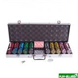 Набор для покера Lux на 500 фишек, интернет-магазин товаров для бильярда Play-billiard.ru
