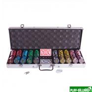 Набор для покера Lux на 500 фишек, интернет-магазин товаров для бильярда Play-billiard.ru. Фото 1