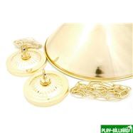 Weekend Лампа на два плафона «Elegance» (золотистая штанга, золотистый плафон D35см), интернет-магазин товаров для бильярда Play-billiard.ru. Фото 2