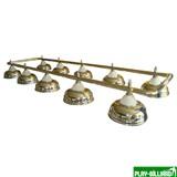 Weekend Лампа на десять плафонов «Crown» (серебряная штанга, золотистый плафон D38см), интернет-магазин товаров для бильярда Play-billiard.ru