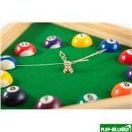 Weekend Часы настенные «Треугольник» (дуб) 40 см х 35 см, деревянные, интернет-магазин товаров для бильярда Play-billiard.ru. Фото 4