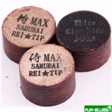 REI TIP & MAX Co. Наклейка для кия «Rei Samurai White» (MAX) 14 мм, интернет-магазин товаров для бильярда Play-billiard.ru